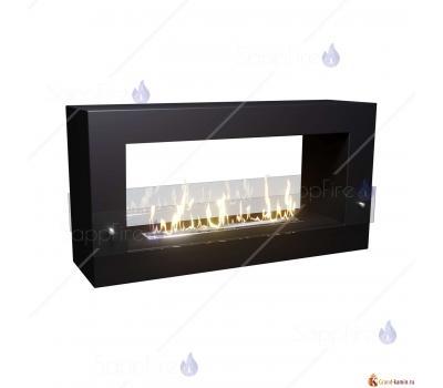 Биокамин напольный Tunnel 1000 (черный) от SappFire
