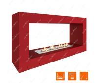 Напольный биокамин SteelHeat FRAME 900 Красный (Стандарт)