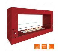 Напольный биокамин SteelHeat FRAME 900 Красный (Стекло)