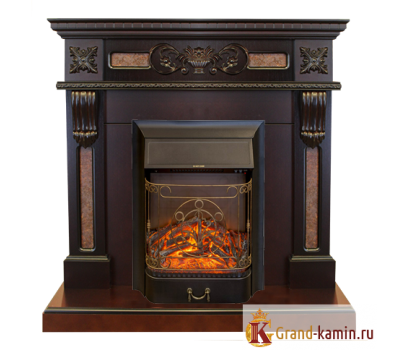 Каминокомплект Corsica (античный дуб) с очагом Majestic Lux BL S от Real Flame