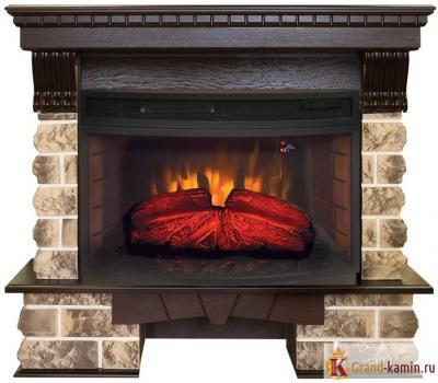 Каминокомплект Kansas (античный дуб) с очагом Firespace 33W S IR от Real Flame