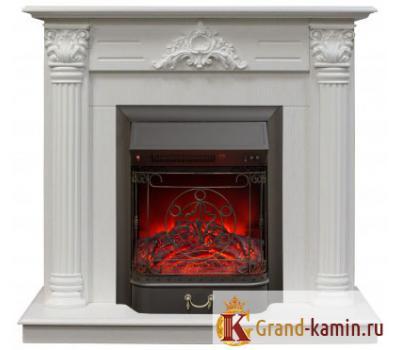 Каминокомплект Stefania (белый дуб) с очагом Majestic Lux BL S от Real Flame