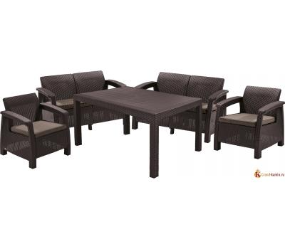 Комплект мебели Корфу Фиеста (Corfu fiesta) коричневый
