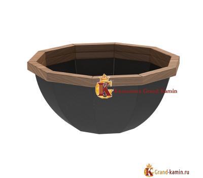 Банный чан 10 граней обшитый (сталь 3) от производителя Сибирский завод