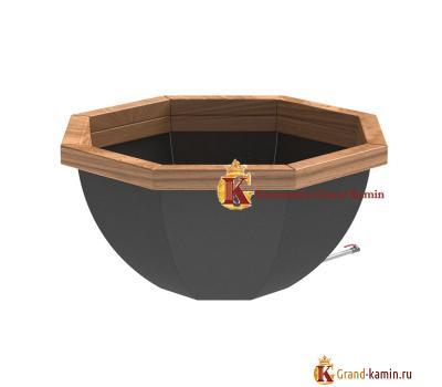 Банный чан 8 граней обшитый (сталь 3) от производителя Сибирский завод