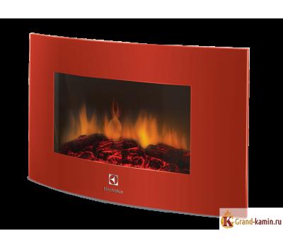 Настенный электрический камин EFP/W - 1200URLS (красный) от производителя Electrolux