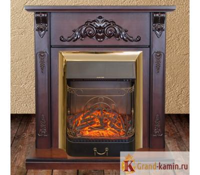 Каминокомплект Anita (античный дуб) с очагом Majestic BR S от Real Flame