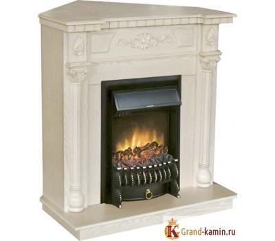 Угловой каминокомплект Dacota Corner (белый дуб) с очагом Fobos Lux BL S от Real Flame