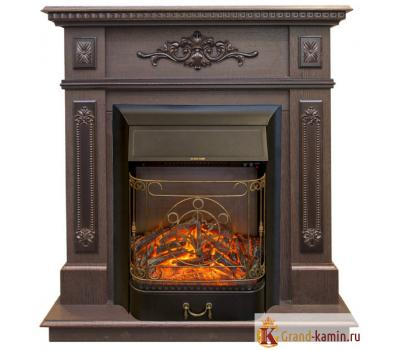 Каминокомплект Lilian (темный орех) с очагом Majestic Lux от Real Flame