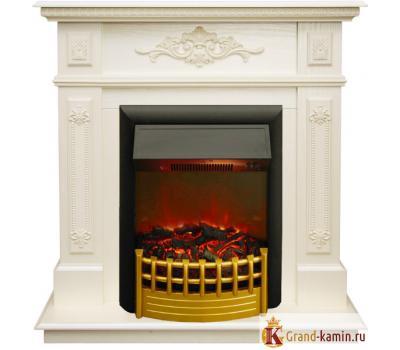 Каминокомплект Lilian (белый дуб) с очагом Rimini от Real Flame