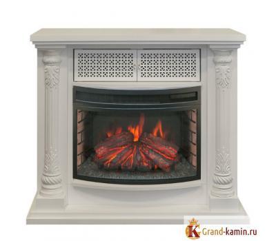 Каминокомплект Lorans (белый дуб) с очагом FireField 25 S IR от Real Flame