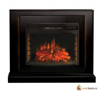 Каминокомплект Lucca (темный орех) с очагом FireField 25 S IR от Real Flame