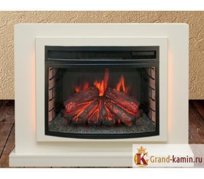 Каминокомплект Lucca (белый) с очагом FireField 25 S IR от Real Flame