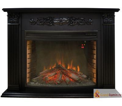 Каминокомплект Milton (темный орех) с очагом Firespace 33 S IR от Real Flame