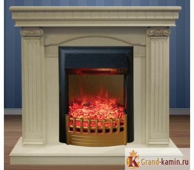 Каминокомплект Rosa (белый дуб) с очагом Rimini от Real Flame