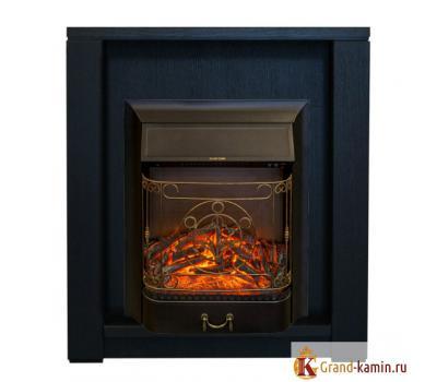 Каминокомплект Skagen (темный орех) с очагом Majestic-S Lux от Real Flame