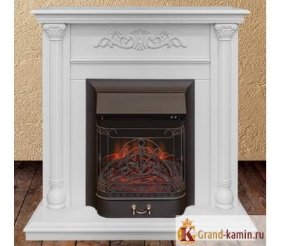 Каминокомплект Torino (белый дуб) с очагом Majestic Lux BL S от Real Flame