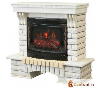 Каминокомплект Country (белый дуб) с очагом FireField 25 S IR от Real Flame
